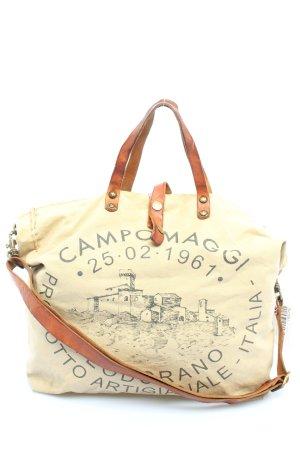 Campomaggi Torebka z rączkami w kolorze białej wełny-brązowy W stylu casual