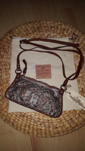 Campomaggi Crossbody bag silver-colored-brown