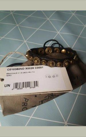 Campomaggi Bracelet en cuir noir