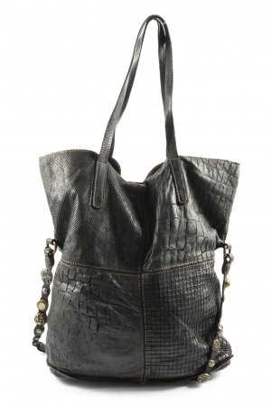 Campomaggi Shoulder Bag black animal pattern casual look