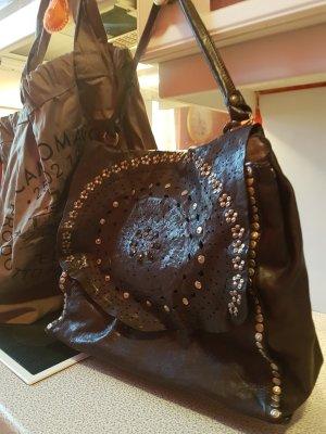 Campomaggi Sac porté épaule brun noir cuir