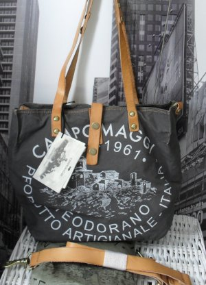 Campomaggi Shopper antraciet-wit