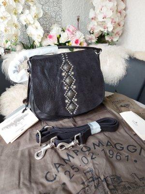Campomaggi Crossbody bag black-silver-colored
