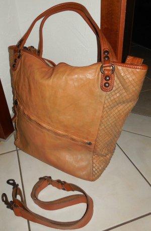 Campomaggi Mobile Phone Case cognac-coloured leather