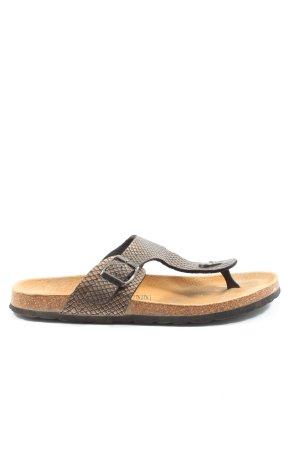 Camprella Flip-Flop Sandals brown animal pattern casual look