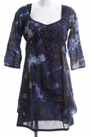 Campus by Marc O'Polo A Line Dress blue-brown allover print casual look