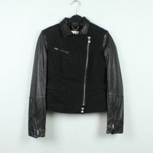 Campus by Marc O'Polo Veste motard noir coton