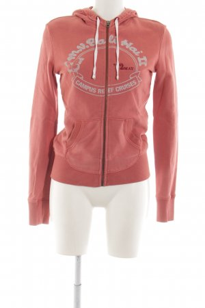Campus by Marc O'Polo Hoody light orange themed print athletic style