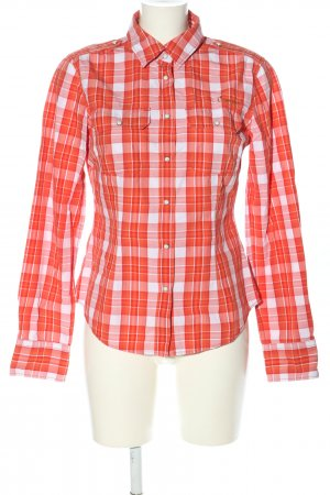 Campus by Marc O'Polo Long Sleeve Shirt light orange-white allover print