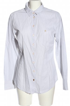 Campus by Marc O'Polo Shirt met lange mouwen lichtgrijs-wit gestreept patroon