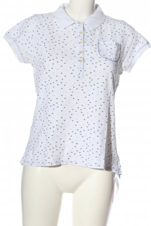 Campus by Marc O'Polo Polo shirt wit-blauw gestippeld patroon