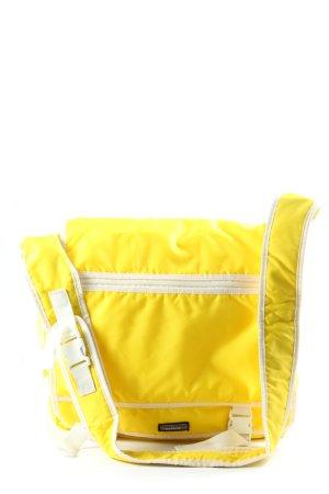 Campus by Marc O'Polo Borsa a tracolla giallo pallido-bianco stile casual
