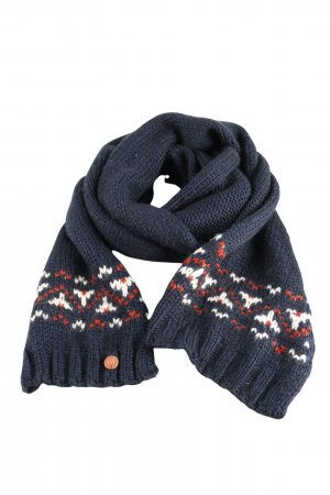 Campus by Marc O'Polo Strickschal blau grafisches Muster Casual-Look