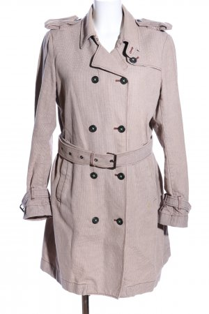 Campus by Marc O'Polo Trench Coat natural white check pattern casual look
