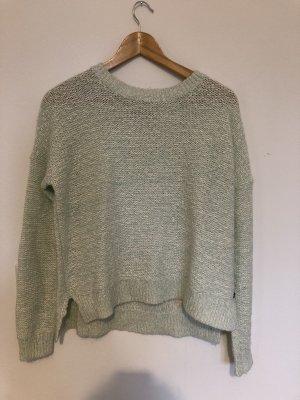 Campus Sweter z dzianiny bladozielony-szaro-zielony