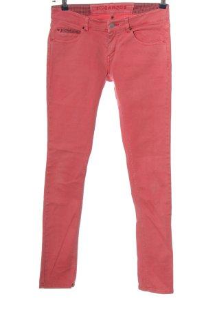 Campus Spodnie z pięcioma kieszeniami czerwony W stylu casual