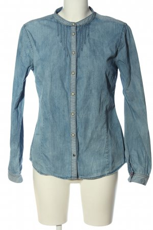 Campus Denim Shirt blue-white allover print casual look