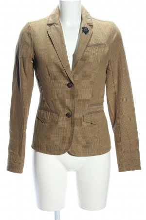 Campus Kurz-Blazer braun Karomuster Business-Look
