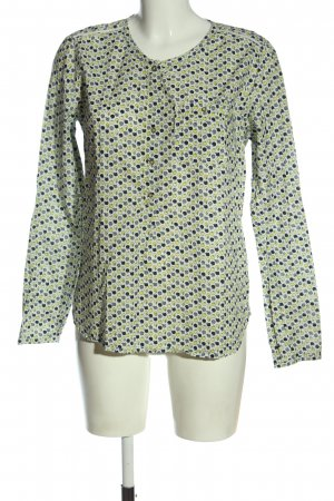 Campus Langarm-Bluse Allover-Druck Casual-Look