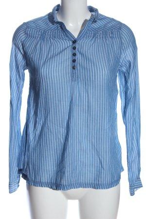 Campus Koszula z długim rękawem niebieski-biały Wzór w paski