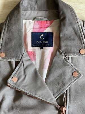 Campus by Marc O'Polo Leather Jacket grey leather