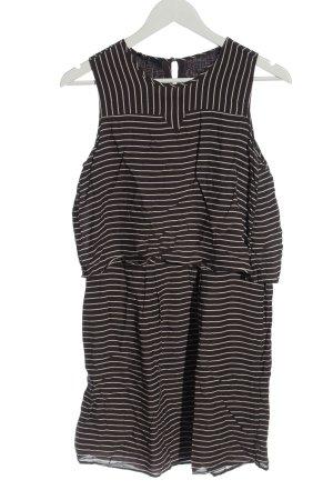 Campus Minikleid schwarz-weiß Streifenmuster Casual-Look