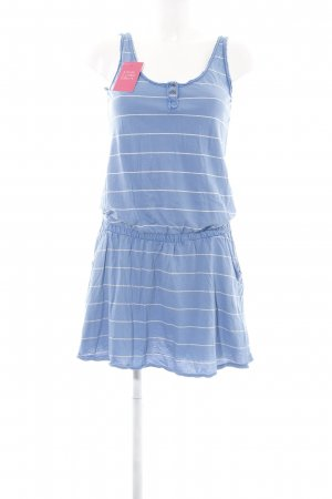 Campus Minikleid blau-weiß Streifenmuster Casual-Look