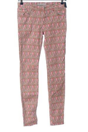 Campus Jeansy rurki Abstrakcyjny wzór W stylu casual