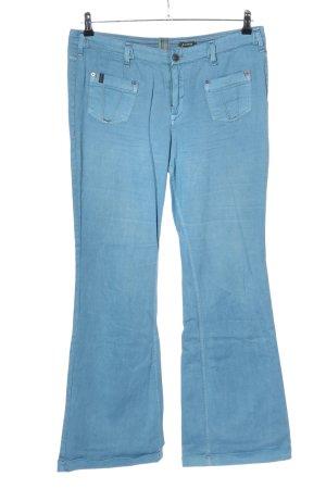 Campus Pantalon pattes d'éléphant bleu style décontracté