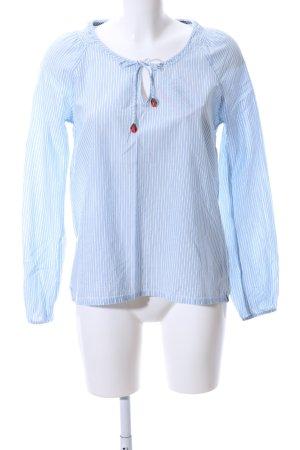 Campus Schlupf-Bluse blau-weiß Streifenmuster Casual-Look