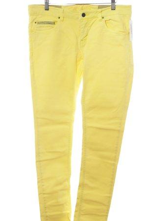 Campus Slim Jeans gelb-dunkelgrau Casual-Look