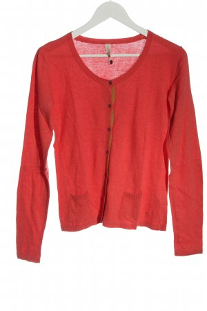 Campus Strick Cardigan rot Casual-Look