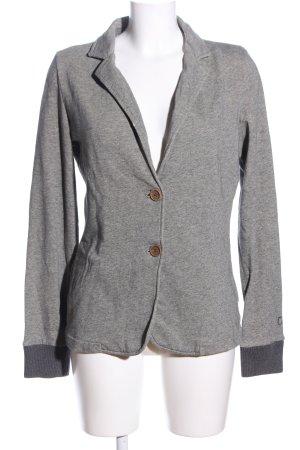 Campus Blazer tejido gris claro moteado look casual