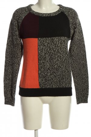 Campus Strickpullover Zopfmuster Casual-Look