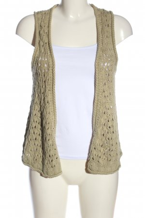 Campus Knitted Vest brown cable stitch casual look