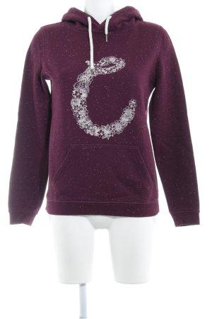 Campus Sweatshirt bordeauxrot-weiß Blumenmuster Casual-Look