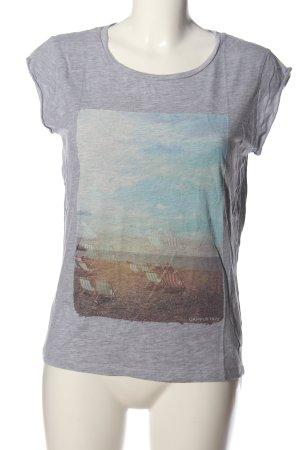 Campus T-shirt jasnoszary Melanżowy W stylu casual