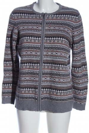 CANADA Cardigan light grey-brown graphic pattern casual look