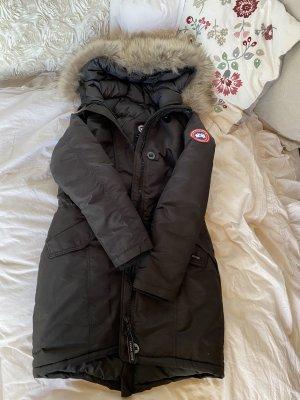 Canada goose Jacke Mantel Parka schwarz rossclair echtfell Fell Pelz S 36