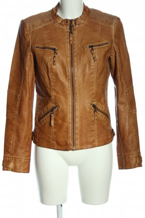 CANADA Faux Leather Jacket brown casual look