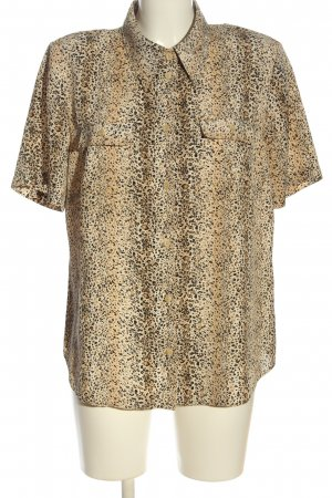 CANADA Short Sleeved Blouse brown-cream allover print casual look