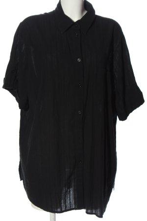 CANADA Koszula z krótkim rękawem czarny Wzór w paski W stylu casual