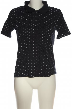 CANADA Polo Shirt black-white spot pattern casual look