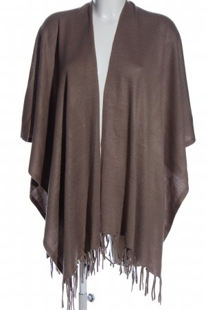 CANADA Poncho brown casual look