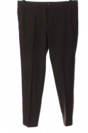 CANADA Jersey Pants brown striped pattern business style