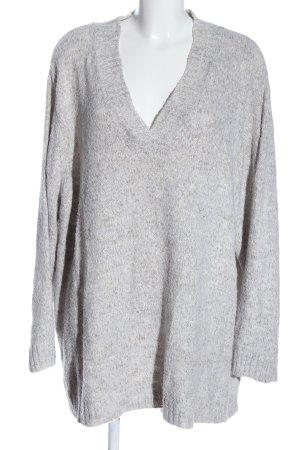 CANADA V-Neck Sweater light grey flecked casual look