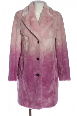 Canadian Classics Fake Fur Coat pink color gradient party style