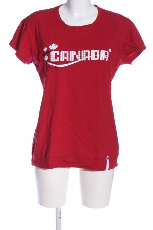 Canadian T-shirt gedrukte letters casual uitstraling