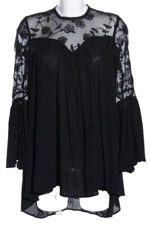 Canal + Bowery Blusenkleid schwarz Elegant