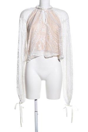 Canal + Bowery Bluzka z długim rękawem biały-kremowy W stylu casual